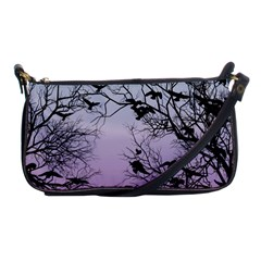 Crow Flock  Shoulder Clutch Bags by Valentinaart