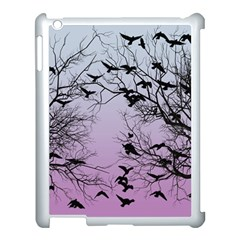 Crow Flock  Apple Ipad 3/4 Case (white) by Valentinaart
