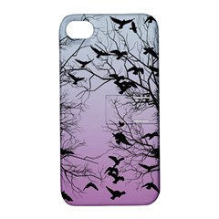 Crow Flock  Apple Iphone 4/4s Hardshell Case With Stand by Valentinaart