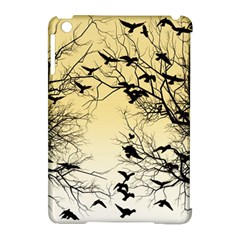 Crow Flock  Apple Ipad Mini Hardshell Case (compatible With Smart Cover) by Valentinaart