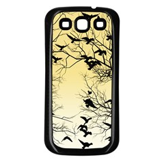 Crow Flock  Samsung Galaxy S3 Back Case (black) by Valentinaart
