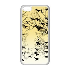 Crow Flock  Apple Iphone 5c Seamless Case (white)