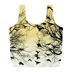 Crow Flock  Full Print Recycle Bags (l)  by Valentinaart