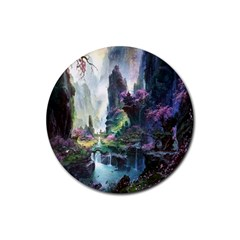Fantastic World Fantasy Painting Rubber Coaster (round)  by BangZart
