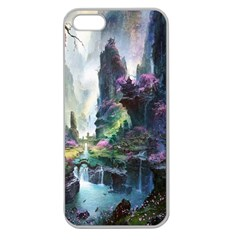 Fantastic World Fantasy Painting Apple Seamless Iphone 5 Case (clear) by BangZart