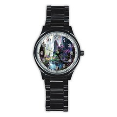 Fantastic World Fantasy Painting Stainless Steel Round Watch by BangZart