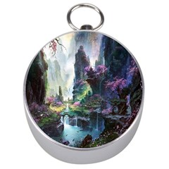 Fantastic World Fantasy Painting Silver Compasses