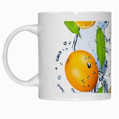 Fruits Water Vegetables Food White Mugs by BangZart