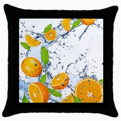Fruits Water Vegetables Food Throw Pillow Case (black) by BangZart