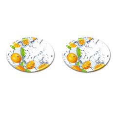 Fruits Water Vegetables Food Cufflinks (oval) by BangZart