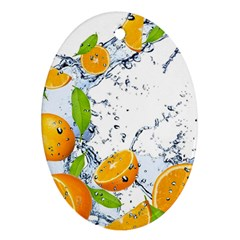 Fruits Water Vegetables Food Oval Ornament (two Sides)