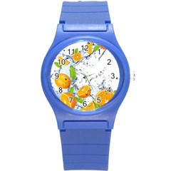 Fruits Water Vegetables Food Round Plastic Sport Watch (s) by BangZart