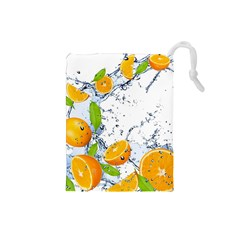 Fruits Water Vegetables Food Drawstring Pouches (small)
