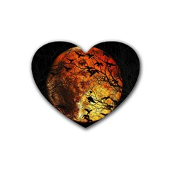 Mars Rubber Coaster (heart)  by Valentinaart