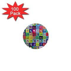 Exquisite Icons Collection Vector 1  Mini Magnets (100 Pack)  by BangZart