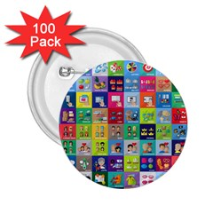 Exquisite Icons Collection Vector 2 25  Buttons (100 Pack)