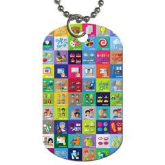 Exquisite Icons Collection Vector Dog Tag (two Sides) by BangZart