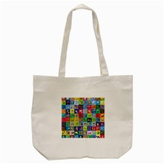 Exquisite Icons Collection Vector Tote Bag (cream)