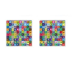 Exquisite Icons Collection Vector Cufflinks (square)