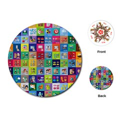 Exquisite Icons Collection Vector Playing Cards (round)
