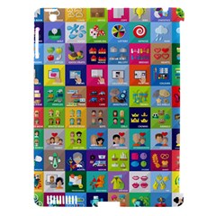 Exquisite Icons Collection Vector Apple Ipad 3/4 Hardshell Case (compatible With Smart Cover) by BangZart