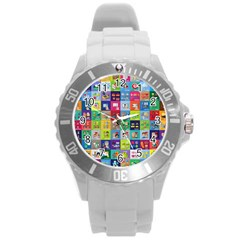 Exquisite Icons Collection Vector Round Plastic Sport Watch (l) by BangZart