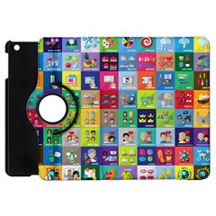 Exquisite Icons Collection Vector Apple Ipad Mini Flip 360 Case by BangZart