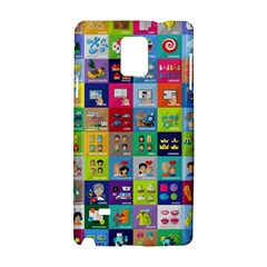Exquisite Icons Collection Vector Samsung Galaxy Note 4 Hardshell Case by BangZart