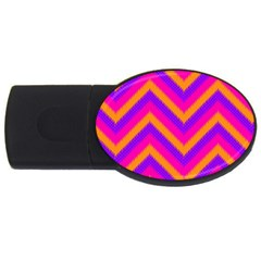 Chevron Usb Flash Drive Oval (2 Gb)