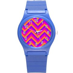 Chevron Round Plastic Sport Watch (s)