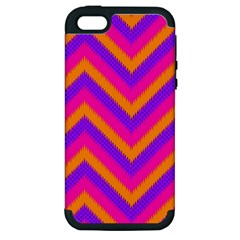 Chevron Apple Iphone 5 Hardshell Case (pc+silicone) by BangZart