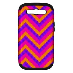 Chevron Samsung Galaxy S Iii Hardshell Case (pc+silicone) by BangZart