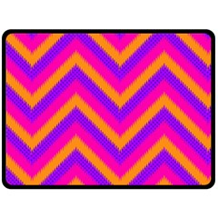 Chevron Double Sided Fleece Blanket (large)