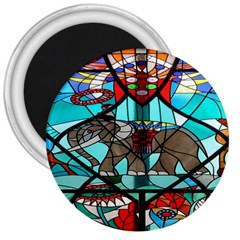 Elephant Stained Glass 3  Magnets by BangZart