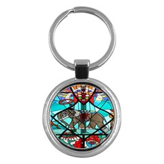Elephant Stained Glass Key Chains (round)