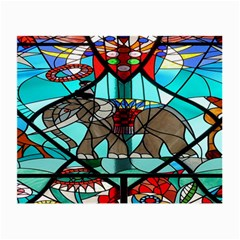 Elephant Stained Glass Small Glasses Cloth