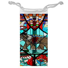 Elephant Stained Glass Jewelry Bag
