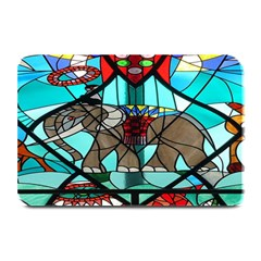 Elephant Stained Glass Plate Mats by BangZart