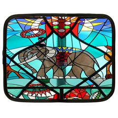 Elephant Stained Glass Netbook Case (xxl)  by BangZart