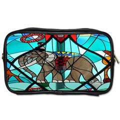 Elephant Stained Glass Toiletries Bags 2 Side by BangZart