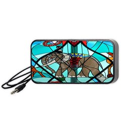 Elephant Stained Glass Portable Speaker (black) by BangZart