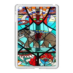 Elephant Stained Glass Apple Ipad Mini Case (white)