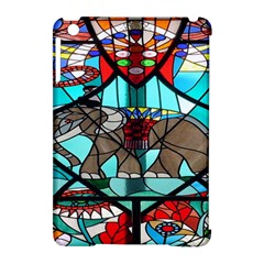 Elephant Stained Glass Apple Ipad Mini Hardshell Case (compatible With Smart Cover) by BangZart