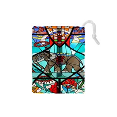 Elephant Stained Glass Drawstring Pouches (small)