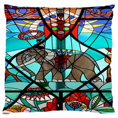 Elephant Stained Glass Standard Flano Cushion Case (one Side) by BangZart