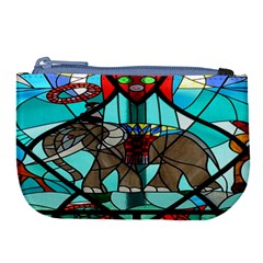 Elephant Stained Glass Large Coin Purse by BangZart