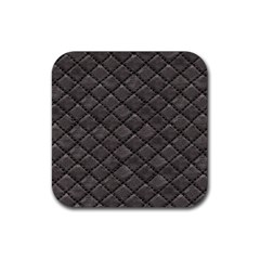Seamless Leather Texture Pattern Rubber Square Coaster (4 Pack)  by BangZart