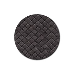 Seamless Leather Texture Pattern Rubber Coaster (round)  by BangZart