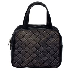 Seamless Leather Texture Pattern Classic Handbags (one Side)