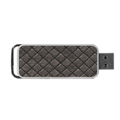 Seamless Leather Texture Pattern Portable Usb Flash (one Side)